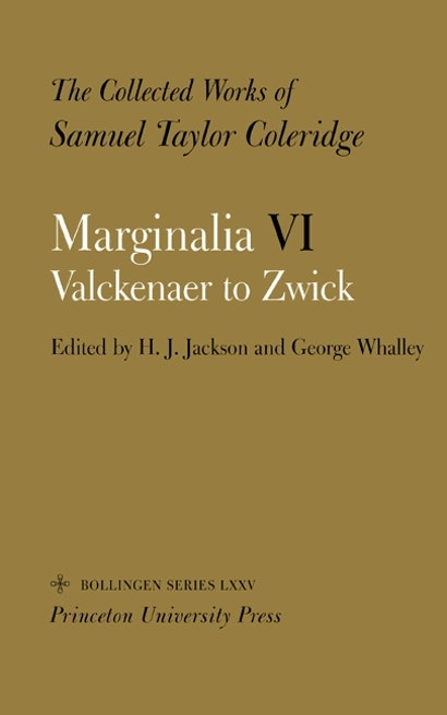 The Collected Works of Samuel Taylor Coleridge, Vol. 12, Part 6