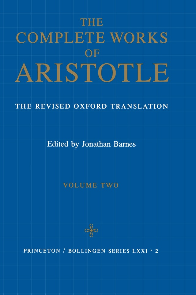 Complete Works of Aristotle, Volume 2