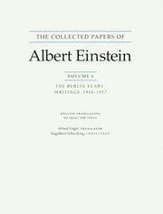 The Collected Papers of Albert Einstein, Volume 6 (English)