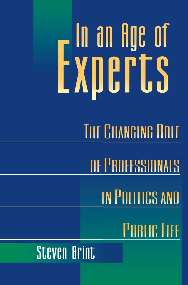 In an Age of Experts