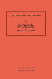 An Introduction to G-Functions. (AM-133), Volume 133