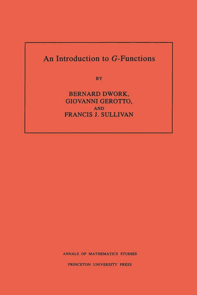 An Introduction to <i>G</i>-Functions. (AM-133), Volume 133