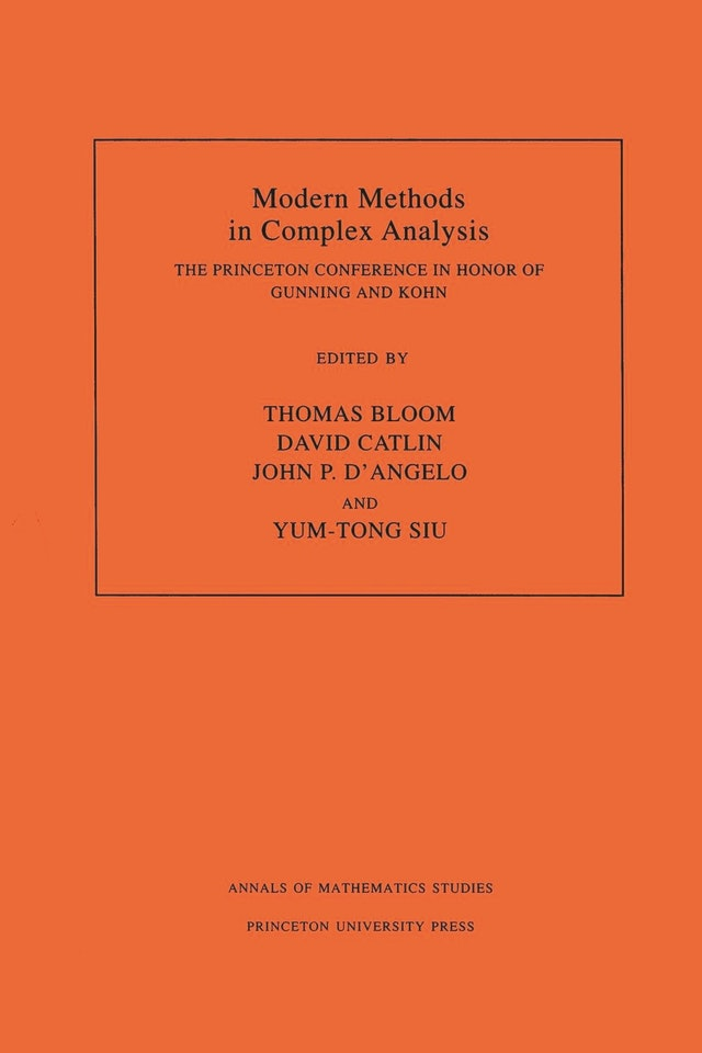 Modern Methods in Complex Analysis (AM-137), Volume 137