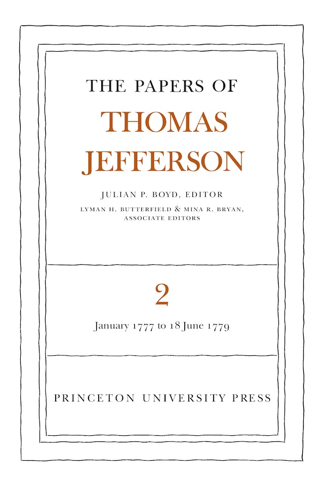 The Papers of Thomas Jefferson, Volume 2
