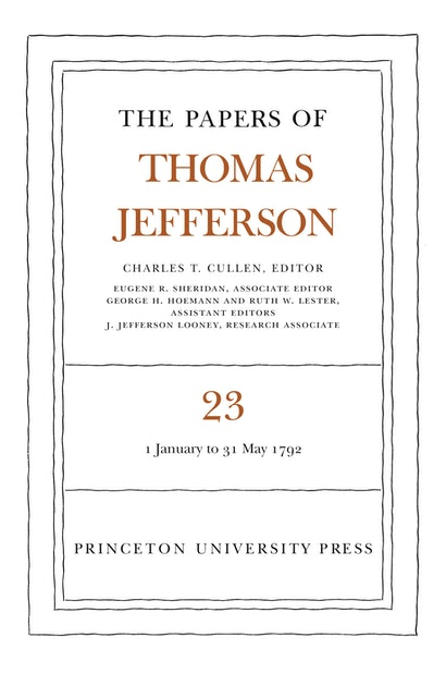 The Papers of Thomas Jefferson, Volume 23