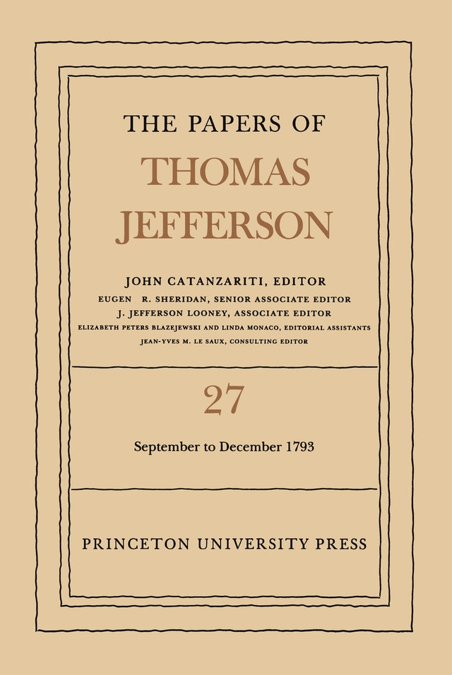 The Papers of Thomas Jefferson, Volume 27