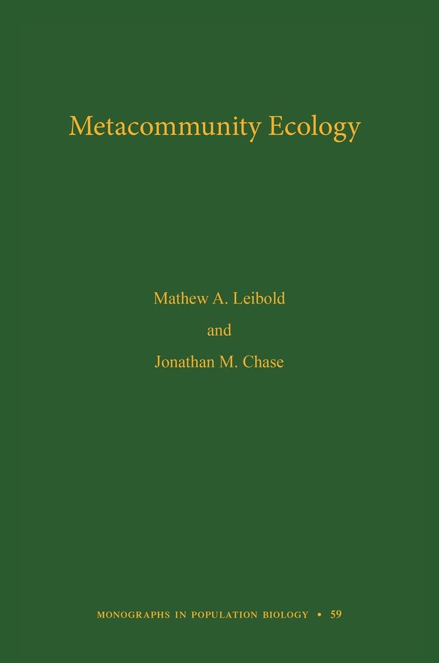Metacommunity Ecology, Volume 59