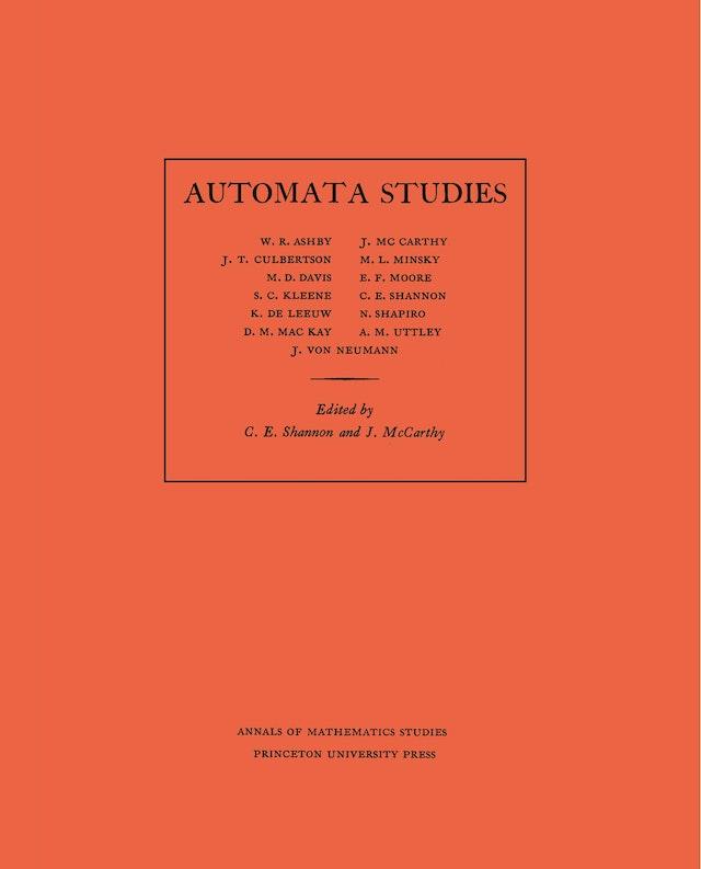 Automata Studies. (AM-34), Volume 34