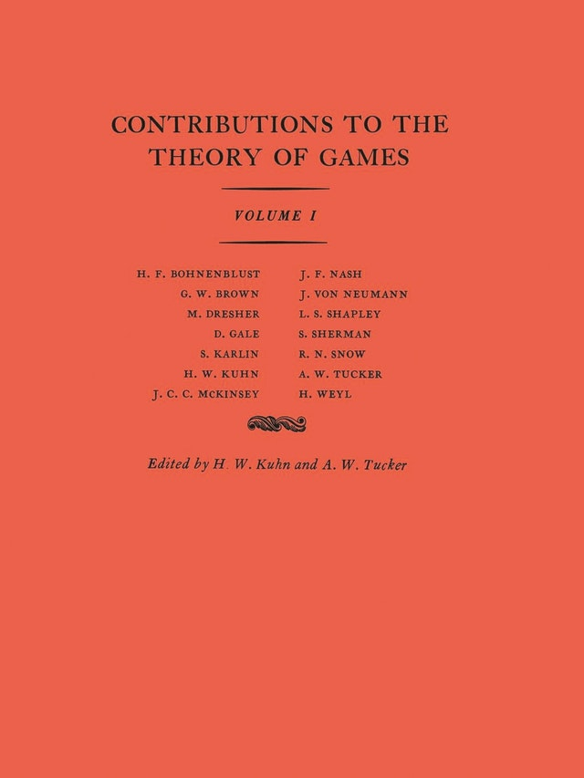 Contributions to the Theory of Games (AM-24), Volume I