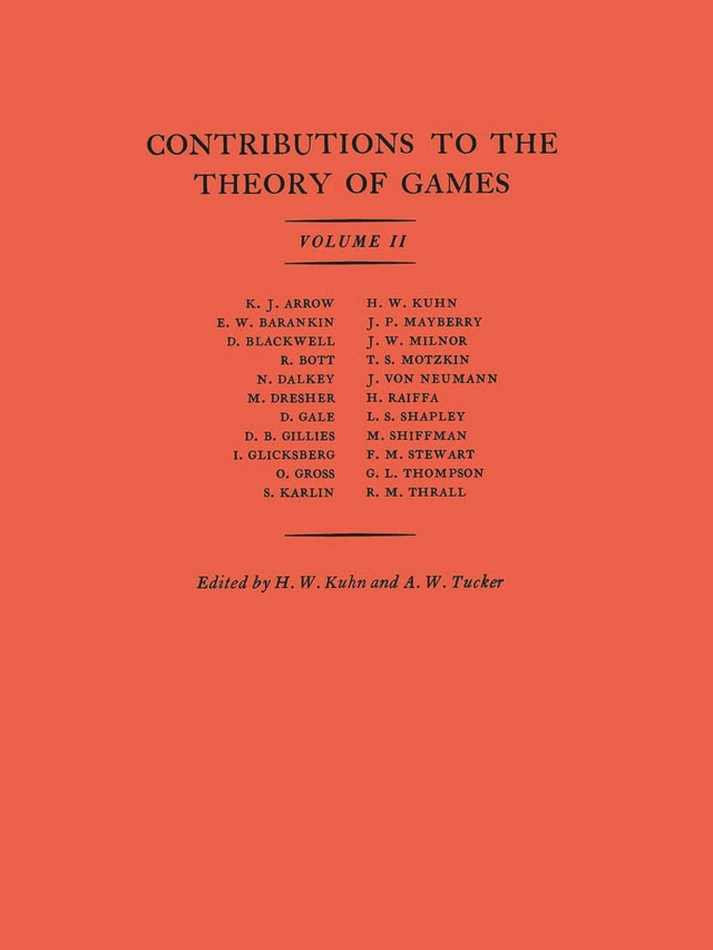Contributions to the Theory of Games (AM-28), Volume II
