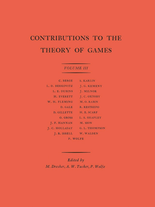 Contributions to the Theory of Games (AM-39), Volume III