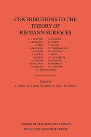 Contributions to the Theory of Riemann Surfaces. (AM-30), Volume 30