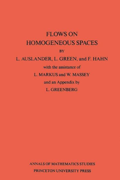 Flows on Homogeneous Spaces. (AM-53), Volume 53
