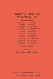 Topology Seminar Wisconsin, 1965. (AM-60), Volume 60