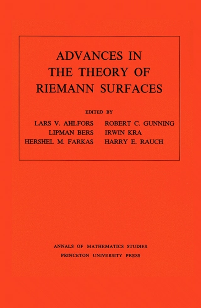Advances in the Theory of Riemann Surfaces. (AM-66), Volume 66