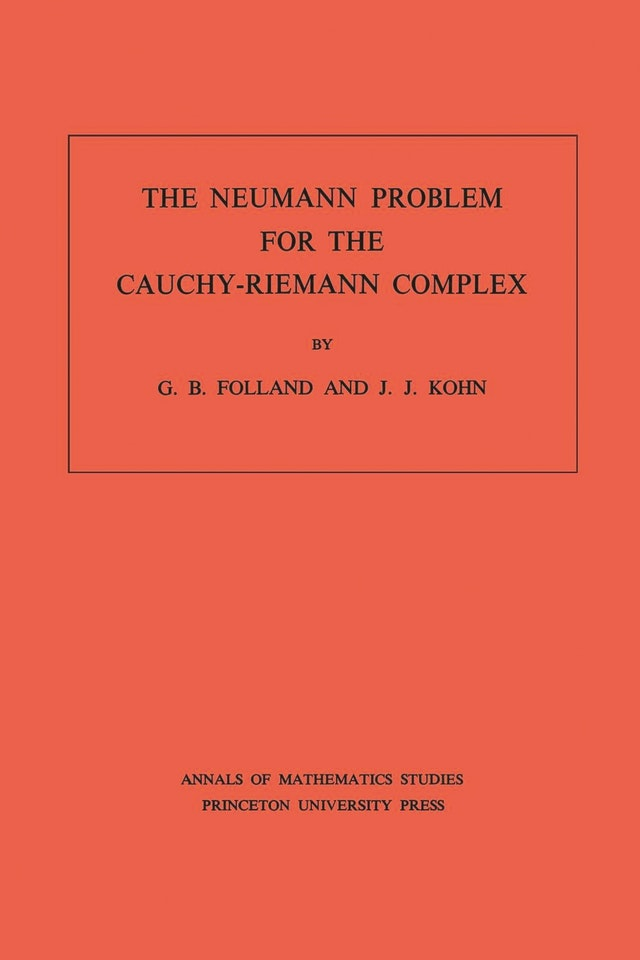 The Neumann Problem for the Cauchy-Riemann Complex. (AM-75), Volume 75