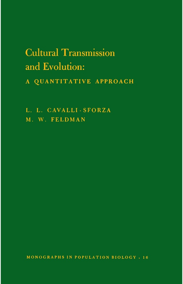 Cultural Transmission and Evolution (MPB-16), Volume 16