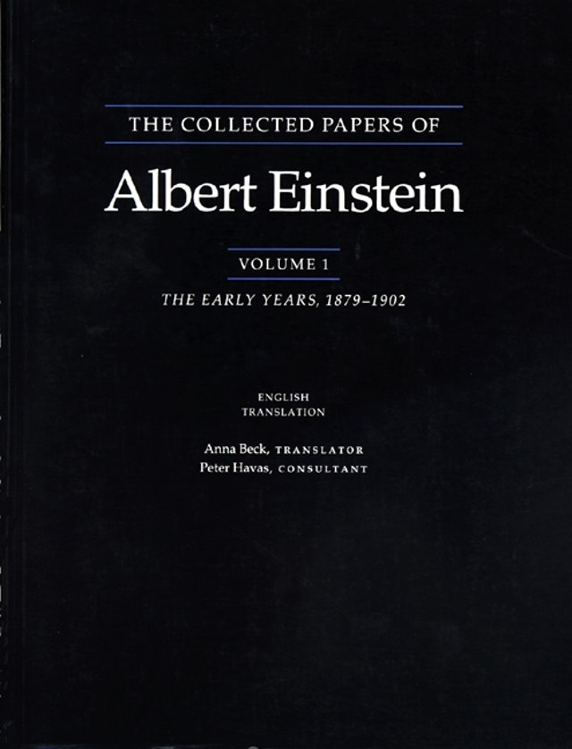 The Collected Papers of Albert Einstein, Volume 1 (English)