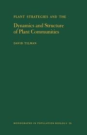 Plant Strategies and the Dynamics and Structure of Plant Communities. (MPB-26), Volume 26