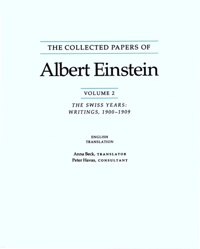 The Collected Papers of Albert Einstein, Volume 2 (English)