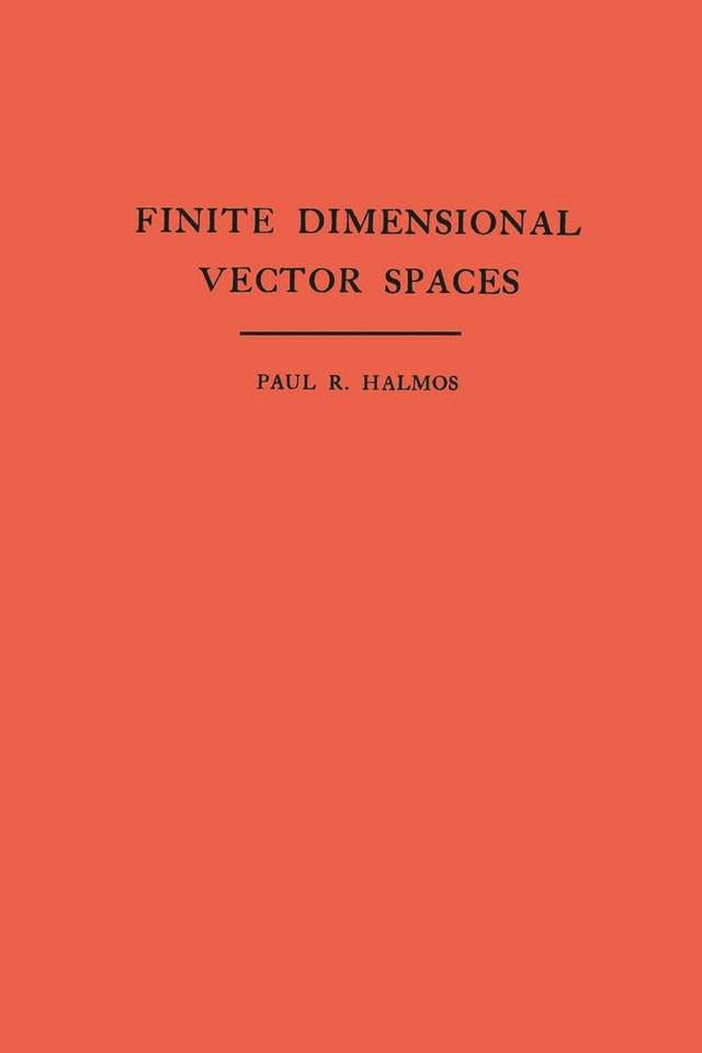 Finite Dimensional Vector Spaces. (AM-7), Volume 7