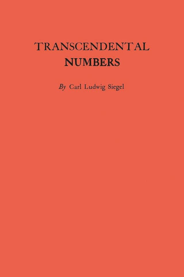 Transcendental Numbers. (AM-16)