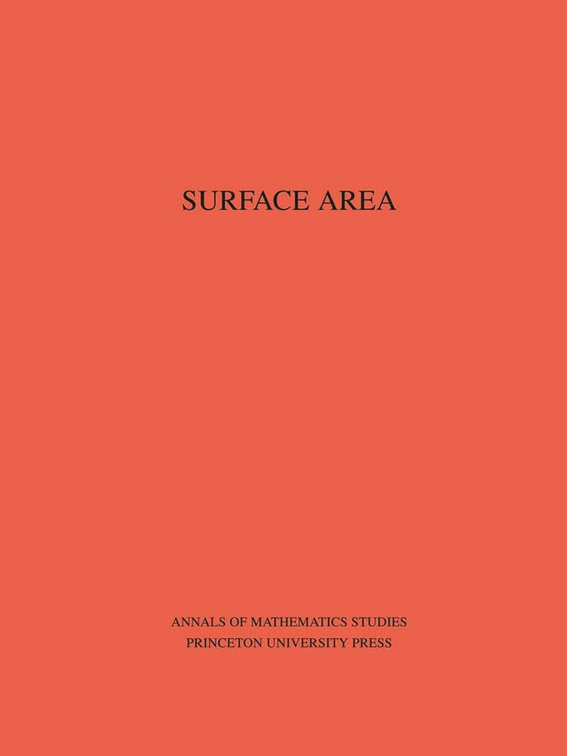 Surface Area. (AM-35), Volume 35