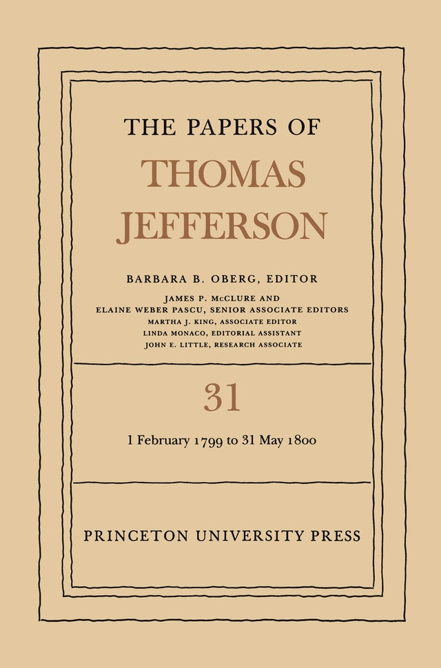 The Papers of Thomas Jefferson, Volume 31