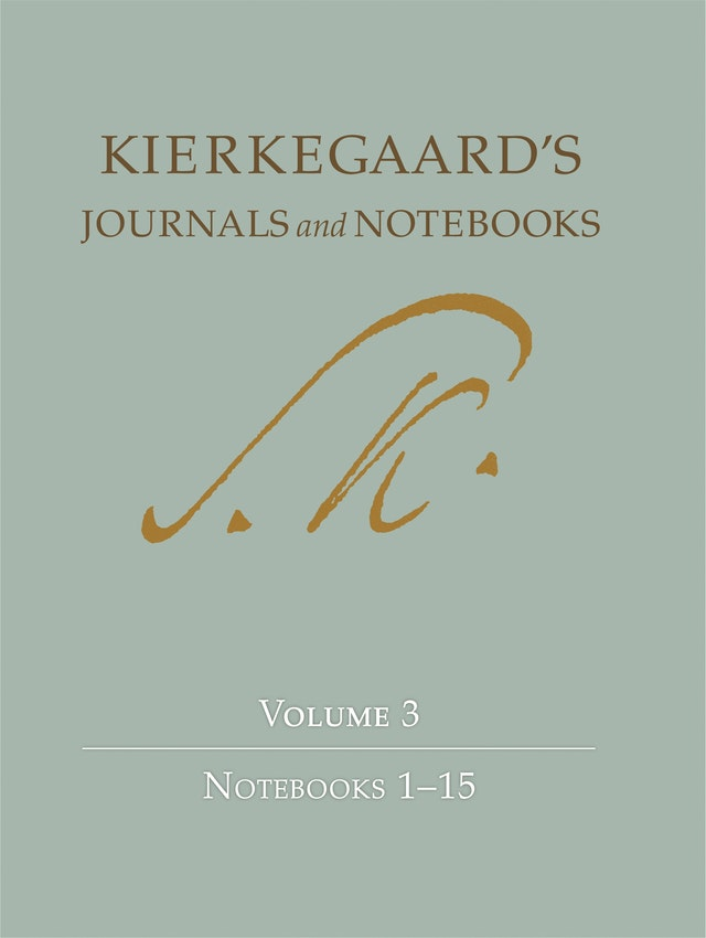 Kierkegaard's Journals and Notebooks, Volume 3
