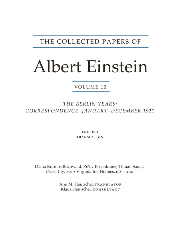 The Collected Papers of Albert Einstein, Volume 12 (English)