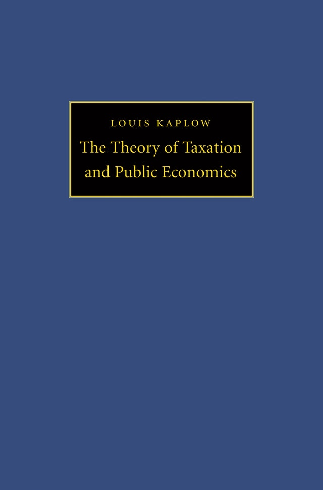 The Theory of Taxation and Public Economics