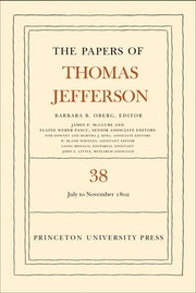 The Papers of Thomas Jefferson, Volume 38