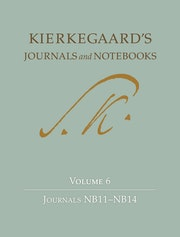 Kierkegaard's Journals and Notebooks, Volume 6