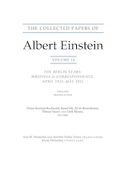 The Collected Papers of Albert Einstein, Volume 14 (English)