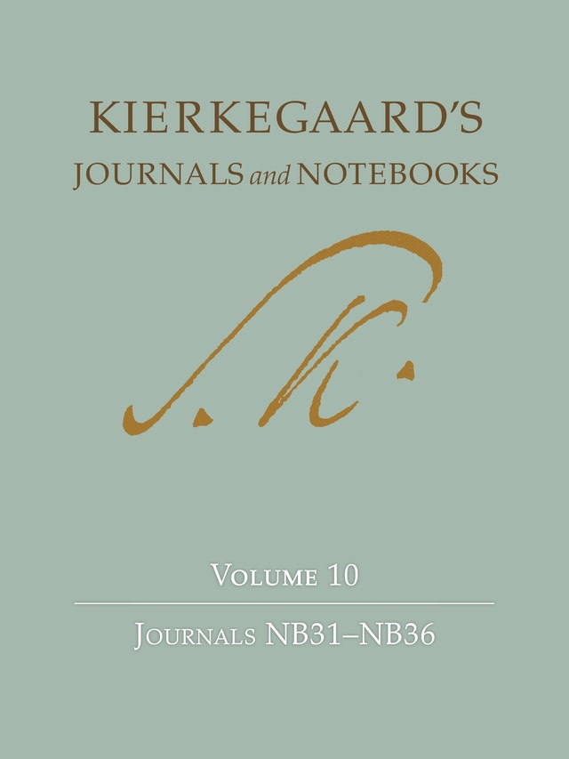 Kierkegaard's Journals and Notebooks Volume 10
