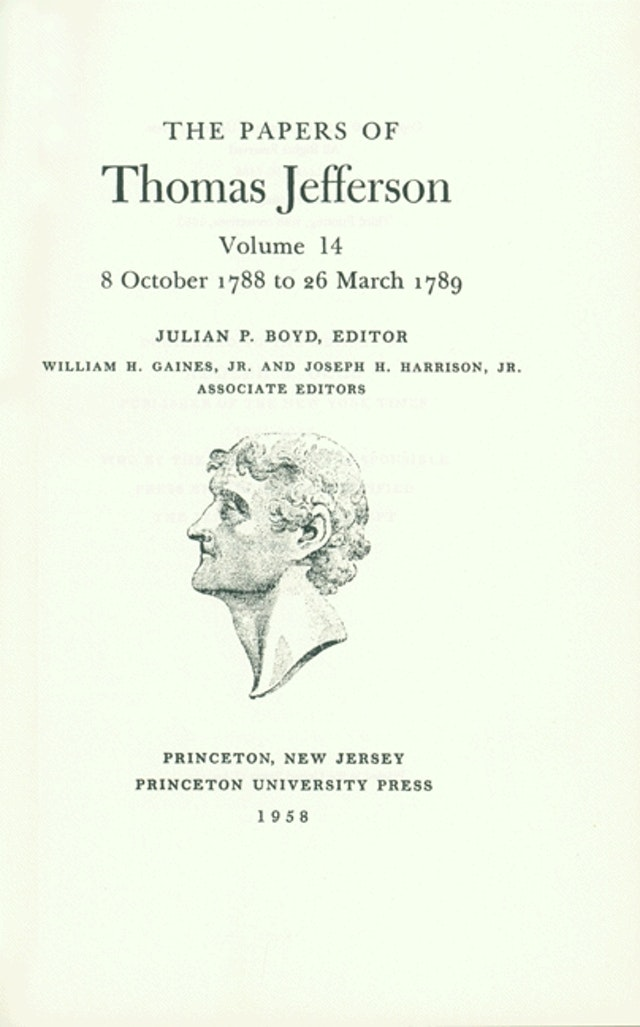 The Papers of Thomas Jefferson, Volume 14