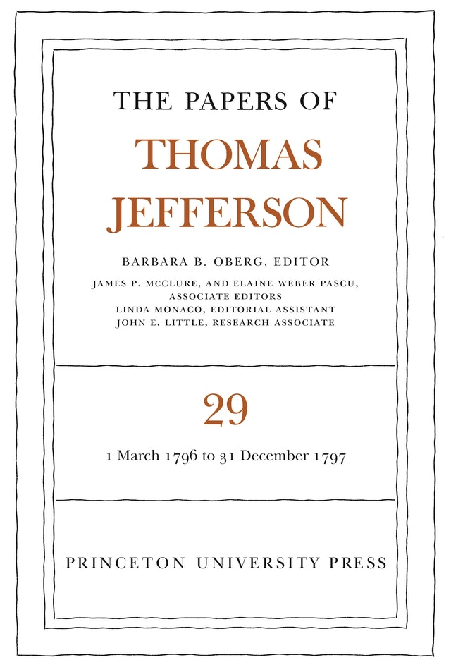The Papers of Thomas Jefferson, Volume 29