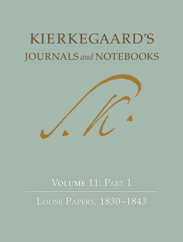 Kierkegaard's Journals and Notebooks, Volume 11, Part 1