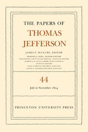 The Papers of Thomas Jefferson, Volume 44
