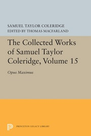 The Collected Works of Samuel Taylor Coleridge, Volume 15