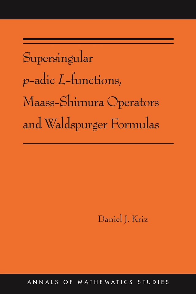 Supersingular <i>p</i>-adic <i>L</i>-functions, Maass-Shimura Operators and Waldspurger Formulas
