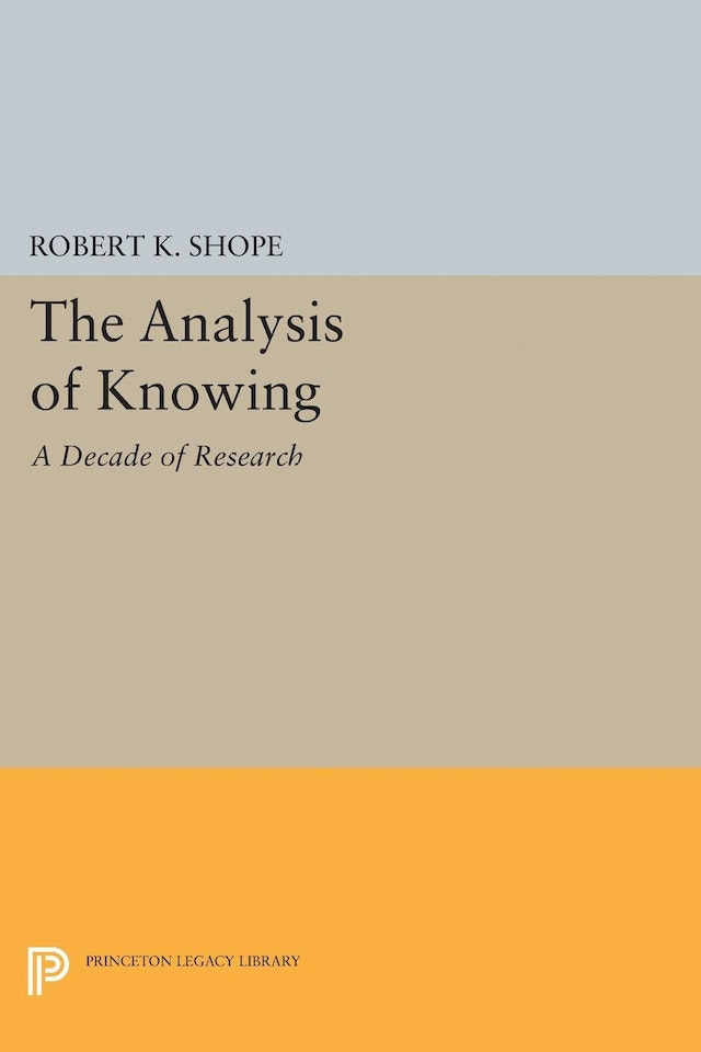 The Analysis of Knowing