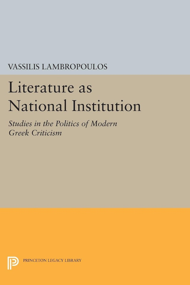Literature as National Institution