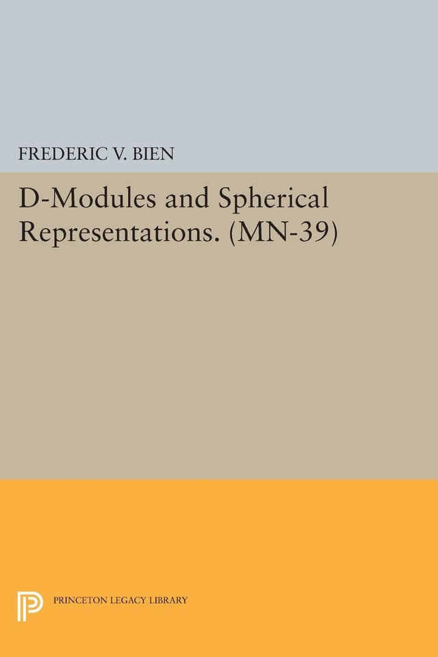 D-Modules and Spherical Representations. (MN-39)