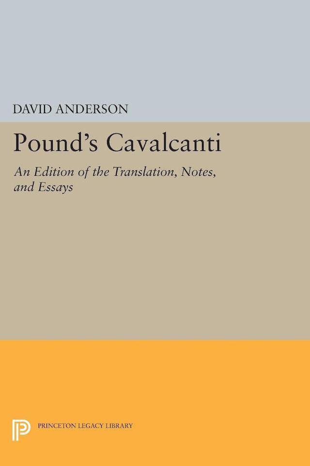 Pound's <i>Cavalcanti</i>