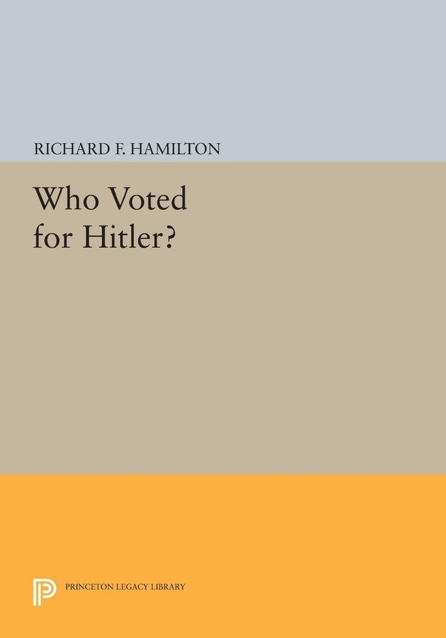 Who Voted for Hitler?