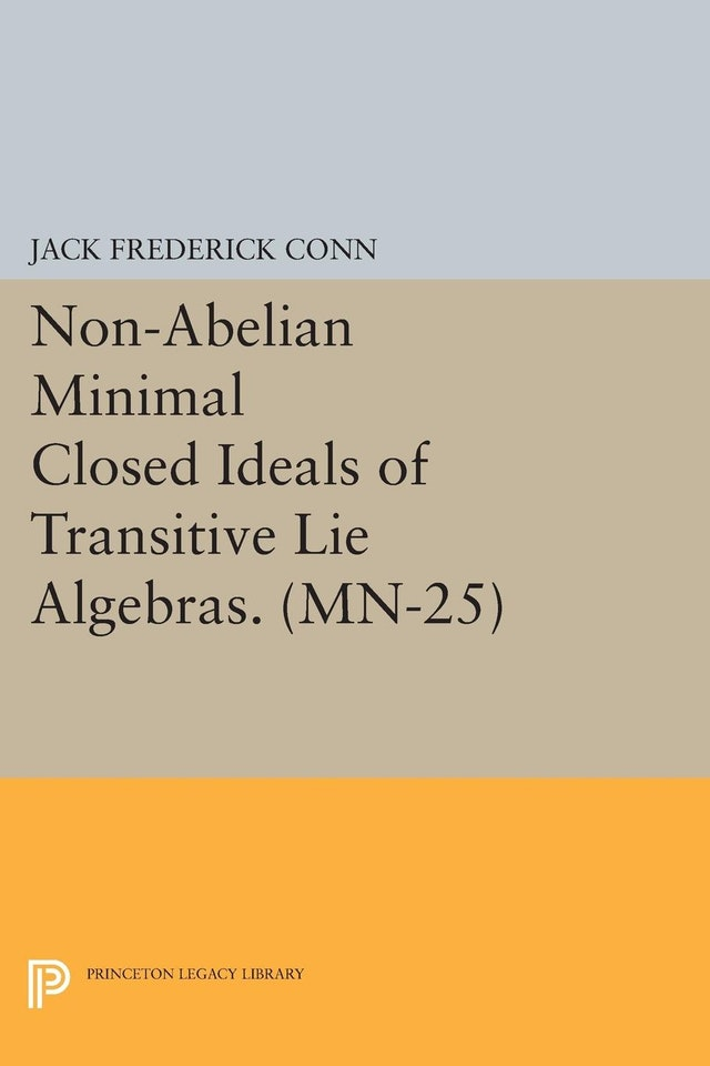 Non-Abelian Minimal Closed Ideals of Transitive Lie Algebras. (MN-25)
