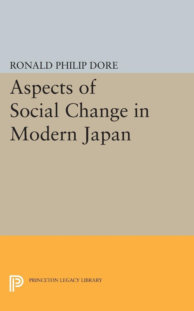 Aspects of Social Change in Modern Japan