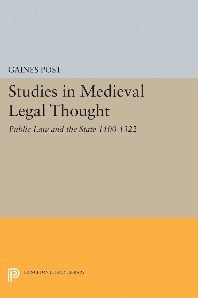 Studies in Medieval Legal Thought