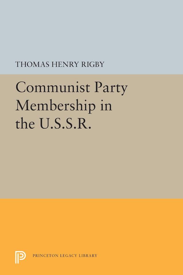 Communist Party Membership in the U.S.S.R.